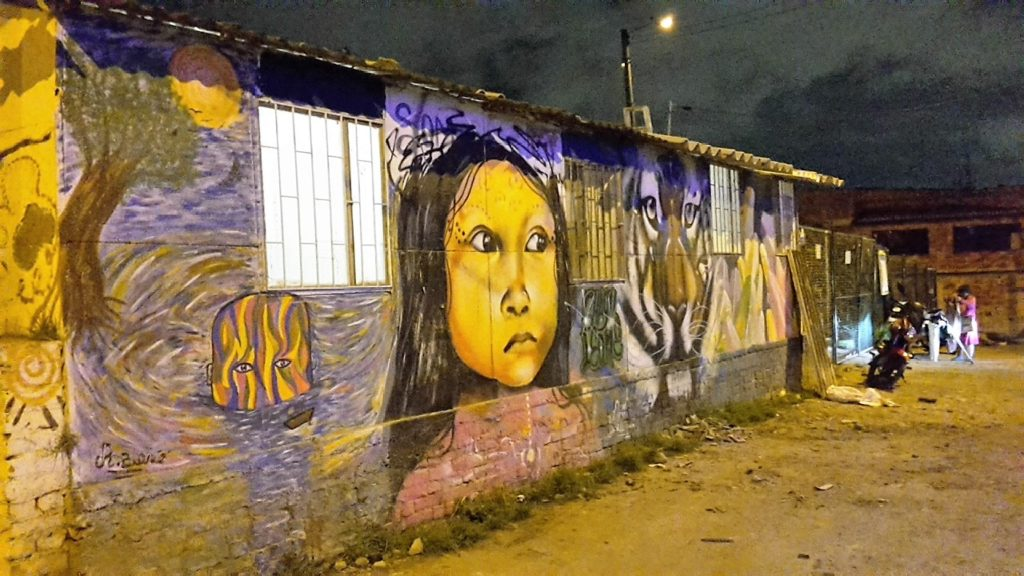 Grafiti représentant les deux visages de Ciudad Bolivar